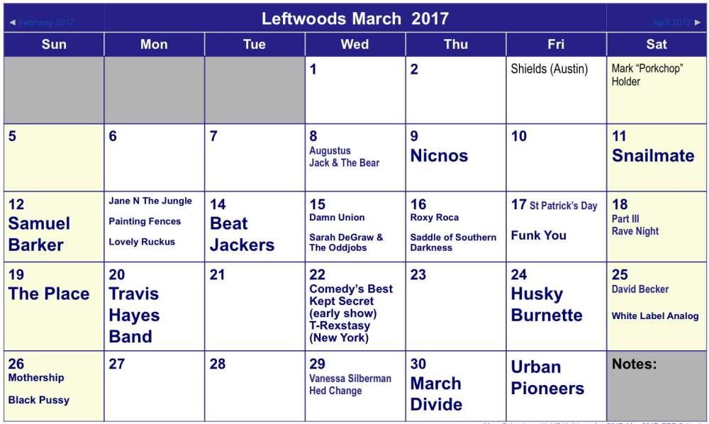 March 2017 Calendar-final